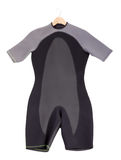 Wetsuit for surfing. On a white background Stock Images