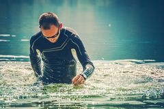Wetsuit Water Sports stock photo