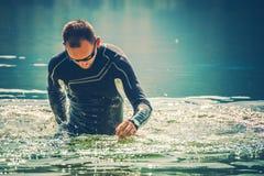Wetsuit Wodni sporty zdjęcie stock