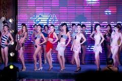 Wettbewerb Badebekleidungs--Dfünfzig-erster Fräuleins International Jiangxi Lizenzfreie Stockfotos
