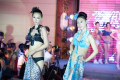 Wettbewerb Badebekleidungs--Dfünfzig-erster Fräuleins International Jiangxi Lizenzfreies Stockfoto