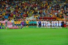 Wettbewerb Chinas AFC Australien-v Lizenzfreie Stockfotos