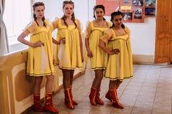 Wettbewerb des choreographischen Kollektivtanzes des Lebens in der Stadt von Kondrovo der Kaluga-Region in Russland im Jahre 2016 Lizenzfreies Stockfoto