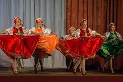 Wettbewerb des choreographischen Kollektivtanzes des Lebens in der Stadt von Kondrovo der Kaluga-Region in Russland im Jahre 2016 Lizenzfreie Stockfotografie