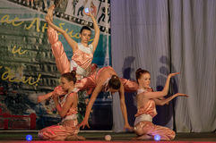 Wettbewerb des choreographischen Kollektivtanzes des Lebens in der Stadt von Kondrovo der Kaluga-Region in Russland im Jahre 2016 Lizenzfreie Stockbilder