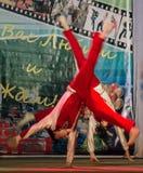 Wettbewerb des choreographischen Kollektivtanzes des Lebens in der Stadt von Kondrovo der Kaluga-Region in Russland im Jahre 2016 Stockbild