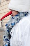 Wettbewerb des neuen Jahres von Schneemännern Lizenzfreies Stockbild