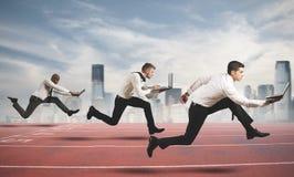 Wettbewerb im Geschäft Stockfotos