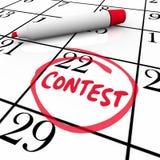 Wettbewerb-Kalendertag-eingekreister Anzeigen-Einsendeschluss-Gewinn vektor abbildung