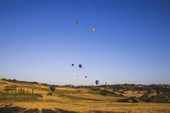 Wettbewerb von Ballonen in Italien Lizenzfreies Stockfoto