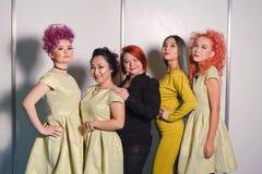 Wettbewerb von Nagelstilisten in Kasachstan astana 10. November 2017 Lizenzfreies Stockbild