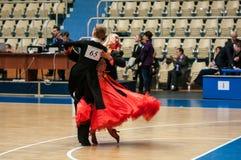 Wettbewerbe im Sporttanzen Lizenzfreie Stockfotografie