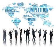 Wettbewerbs-Markt-globales Herausforderungs-Wettbewerb-Konzept vektor abbildung