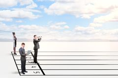 Wettbewerbs- und Erfolgskonzept stockfotografie