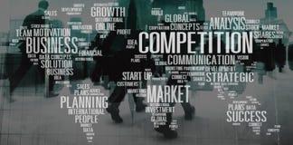 Wettbewerbs-Zusammenarbeits-Kunden-Entwicklungs-Konzept lizenzfreie stockfotos