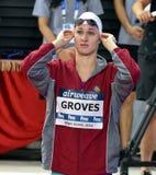 Wettbewerbsfähige Schwimmer WALDUNGEN Madeline AUS Stockbilder