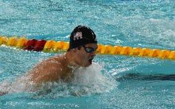 Wettbewerbsfähiger Schwimmer ANDREW Michael USA Lizenzfreie Stockfotografie