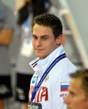 Wettbewerbsfähiger Schwimmer MOROSOW Vladimir RUS Stockbild