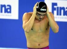 Wettbewerbsfähiger Schwimmer SANKOVICH Pavel BLR Stockbilder