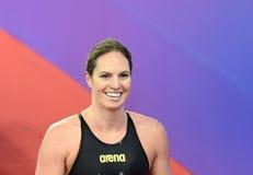 Wettbewerbsfähiger Schwimmer SEEBOHM Emily AUS Lizenzfreies Stockfoto
