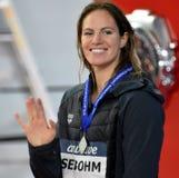Wettbewerbsfähiger Schwimmer SEEBOHM Emily AUS Lizenzfreie Stockfotografie