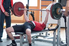 Wettbewerbsmänner Powerlifting Lizenzfreies Stockbild