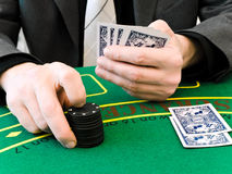 Wette am Kasino Stockfoto
