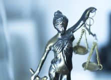 Wettelijk advocatenkantoorstandbeeld royalty-vrije stock afbeelding