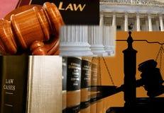 Wettelijk materiaal Stock Foto's
