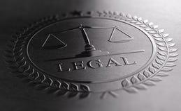 Wettelijk Tekenontwerp met Schalen van Rechtvaardigheidssymbool stock illustratie