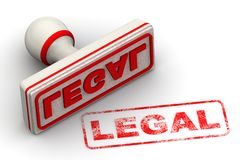 wettelijk Verbinding en afdruk stock illustratie