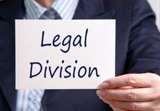 Wettelijke Afdeling stock afbeeldingen