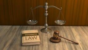 Wettelijke attributen: hamer, schaal en wetsboek vector illustratie