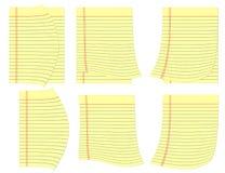 Wettelijke gele pagina's met krul bij hoeken. Royalty-vrije Stock Foto
