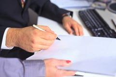 Wettelijke handtekening Royalty-vrije Stock Afbeelding