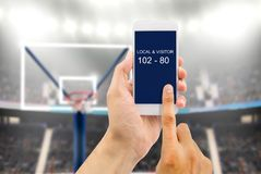 Wetten auf Basketballarena lizenzfreie stockfotografie