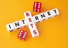 Wetten auf Internet stockfoto