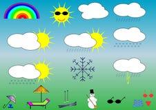 Wetter vektor abbildung