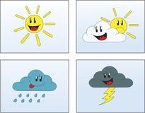 Wetter-Abbildungen 1 Stockbild
