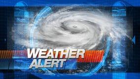 Wetter-Alarm - Sendungs-Grafik-Titel stock abbildung