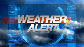 Wetter-Alarm - Sendungs-Grafik-Titel vektor abbildung