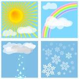 Wetter deckt #1 mit Ziegeln lizenzfreie abbildung