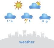 Wetter-Ikone Stockfotos