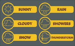 Wetter-Ikonen 3 Lizenzfreies Stockfoto