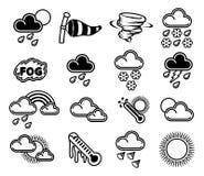Wetter-Ikonen Stockbild