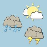 Wetter-Ikonen Lizenzfreie Stockfotografie