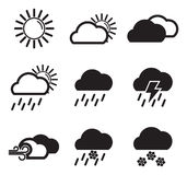 Wetter-Ikonen Stockbilder