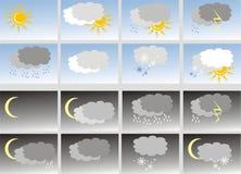 Wetter. Ikonen lizenzfreie abbildung