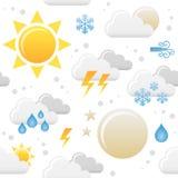 Wetter-Ikonen-nahtloses Muster Stockbild