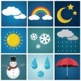 Wetter-Illustrations-Satz Lizenzfreies Stockbild
